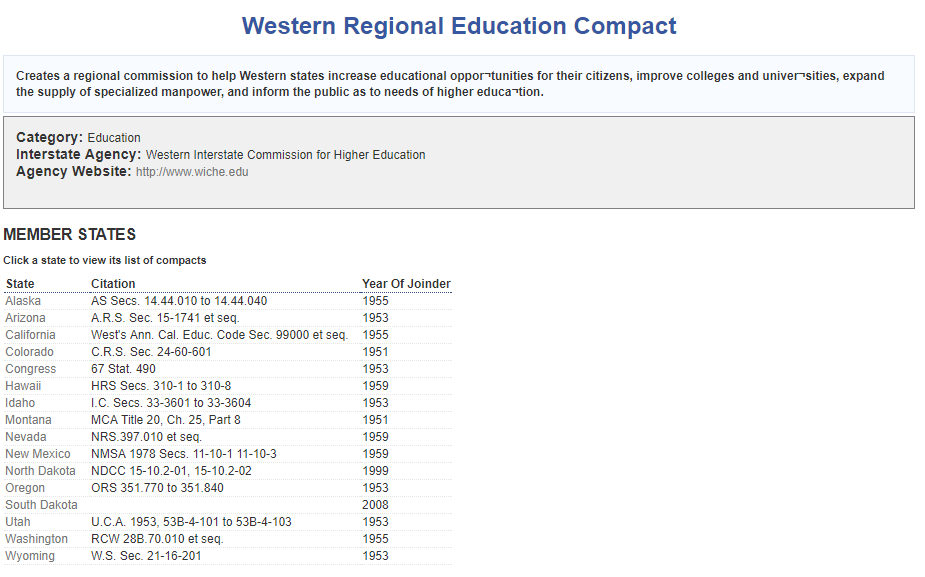 Western Regional Education Compact