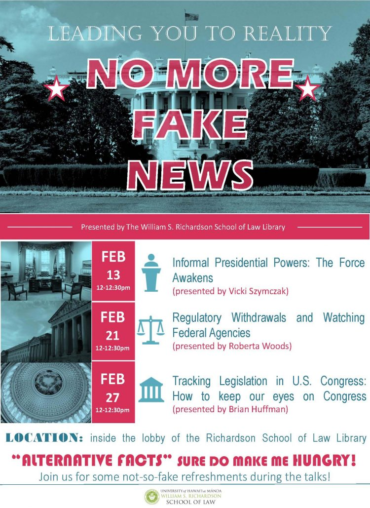 No More Fake News Presentation Series Uh School Of Law