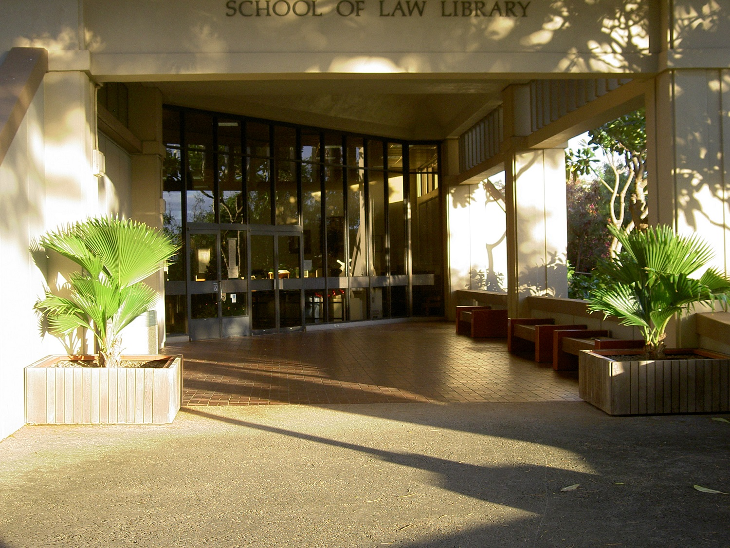 library entrance