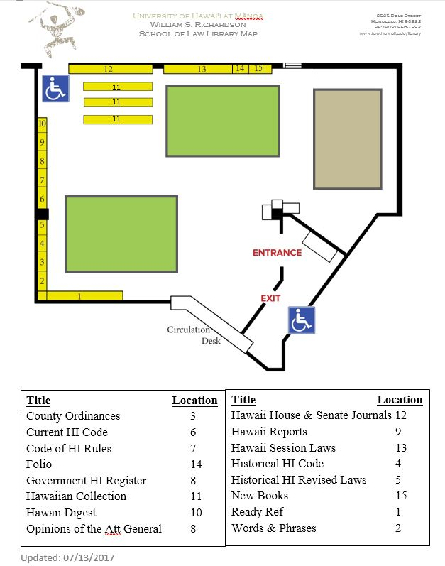 library map of lobby area