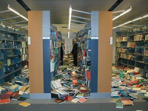 San José Library after 2007 earthquake