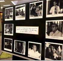 Black and white images of Judges from  the first South Pacific Judicial Conference in 1972
