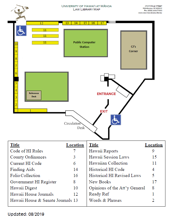 map of library lobby