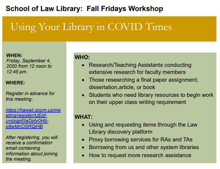 Using Your Library in COVID Times details
