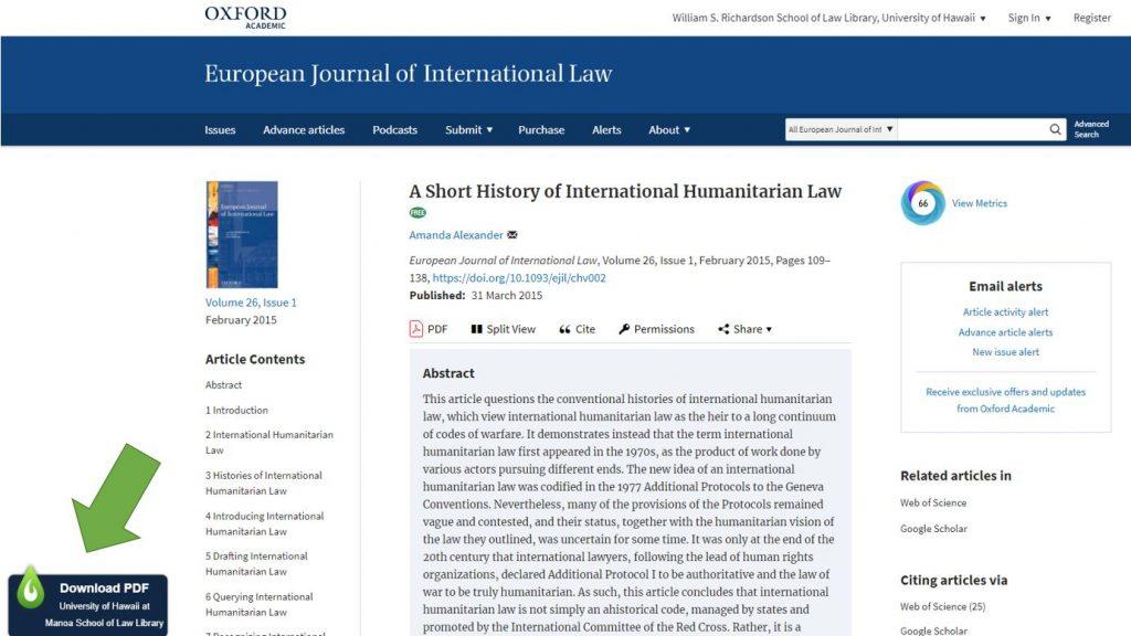 Screenshots of online journal publisher's website and Wikipedia